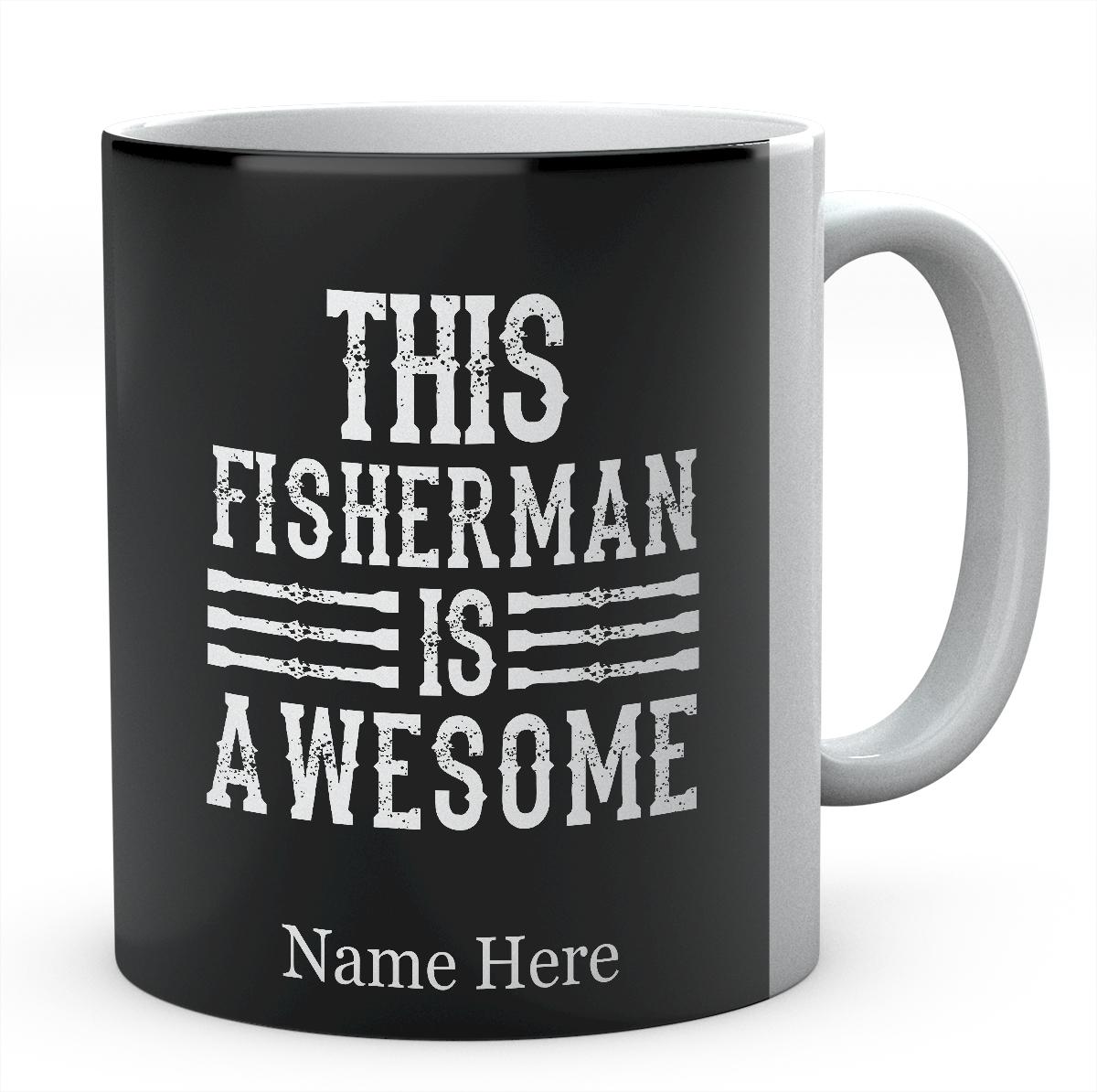 This Fisherman Is Awesome-Personalised Mug