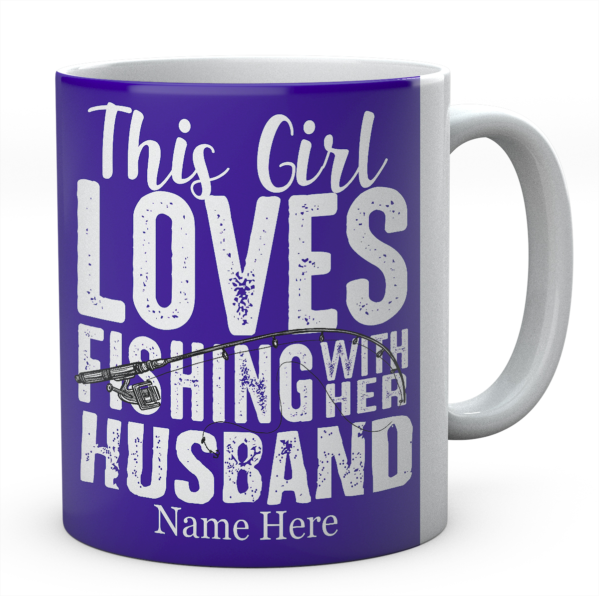 This Girl Loves Fishing With Her Husband-Personalised Coffee Mug
