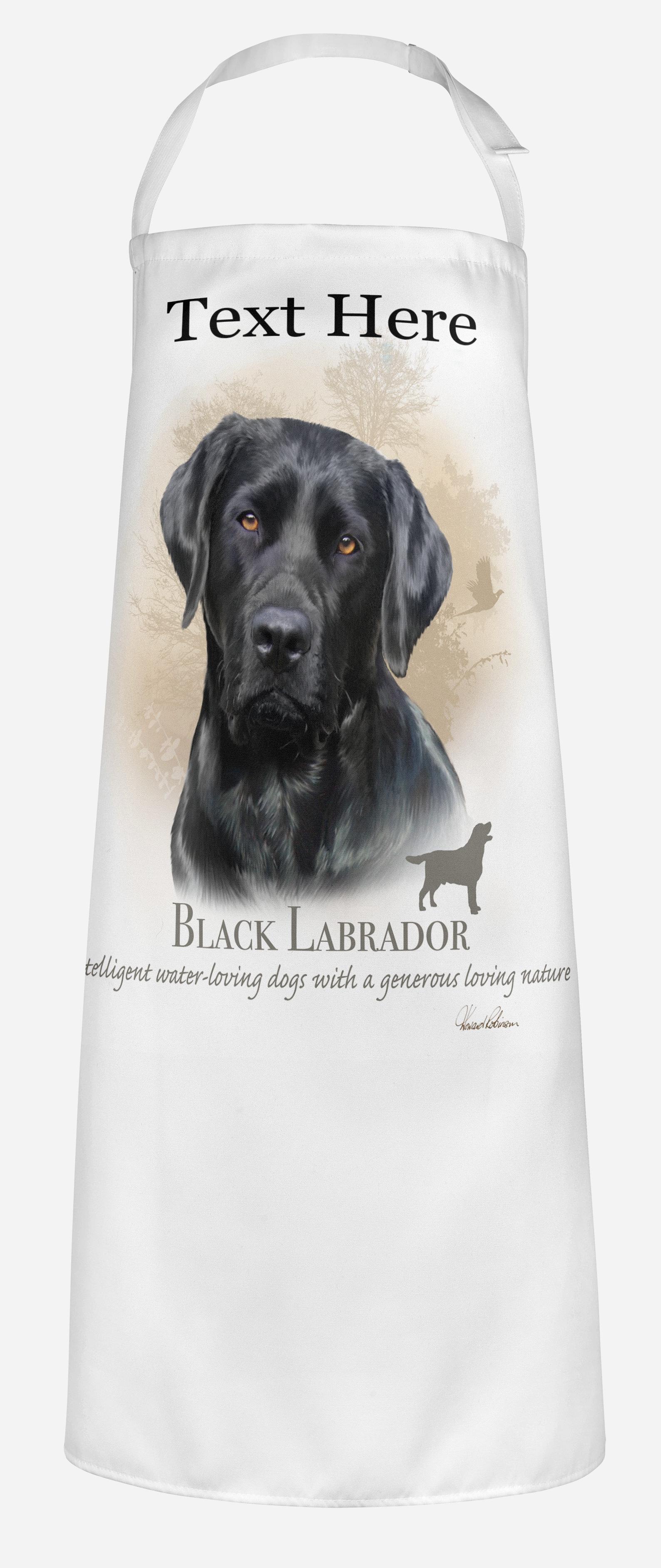 Unisex Adults Personalised Black Labrador Dog Apron
