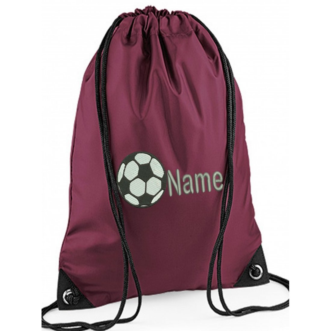 Unisex Personalised Football Gym bag, Embroidered To Order