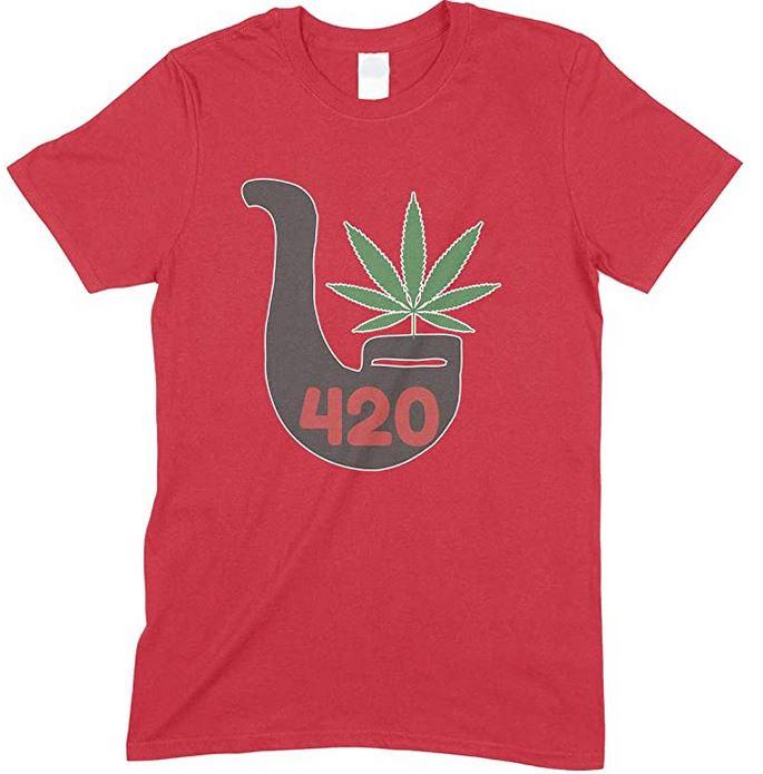 Weed 420 Pipe - Men's unisex T Shirt Novelty Gift