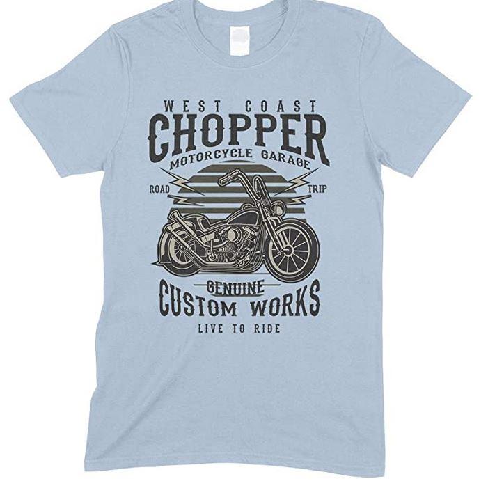 West Coast Chopper- Motorcycles Garage- Road Trip-  Live to Ride- Kids T-Shirt Boy/Girl