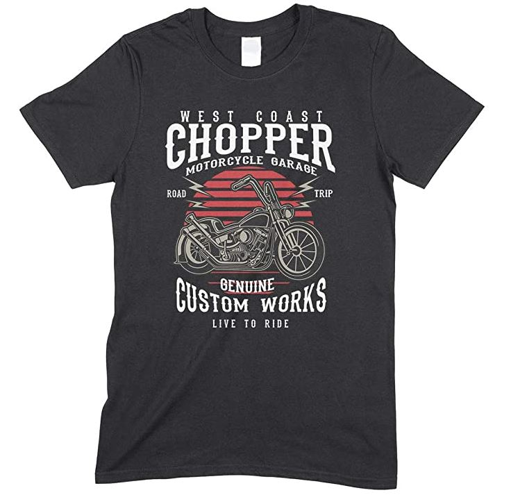 West Coast Chopper- Motorcycles Gargae- Road Trip -Live to Ride-Men's Unisex Fun T-Shirt