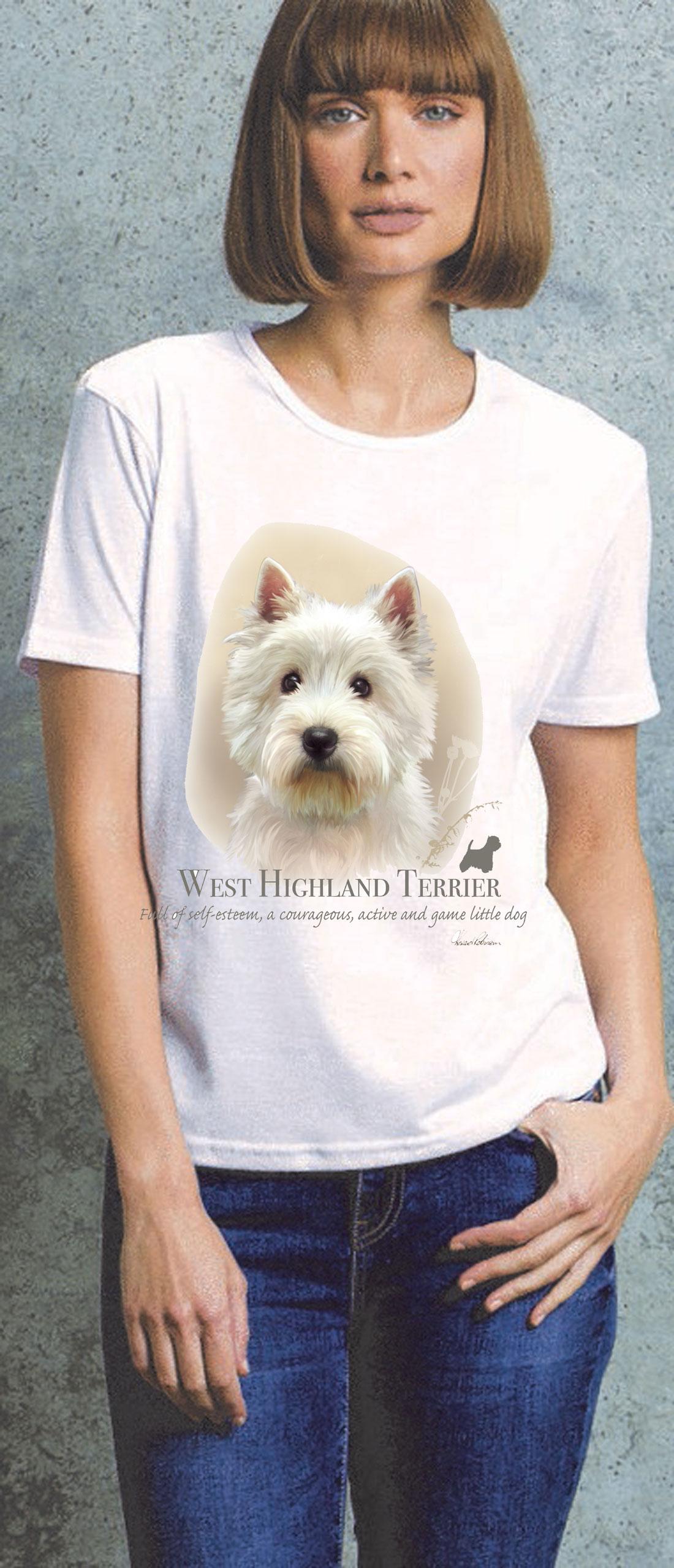 West Highland Terrier Ladies T Shirt