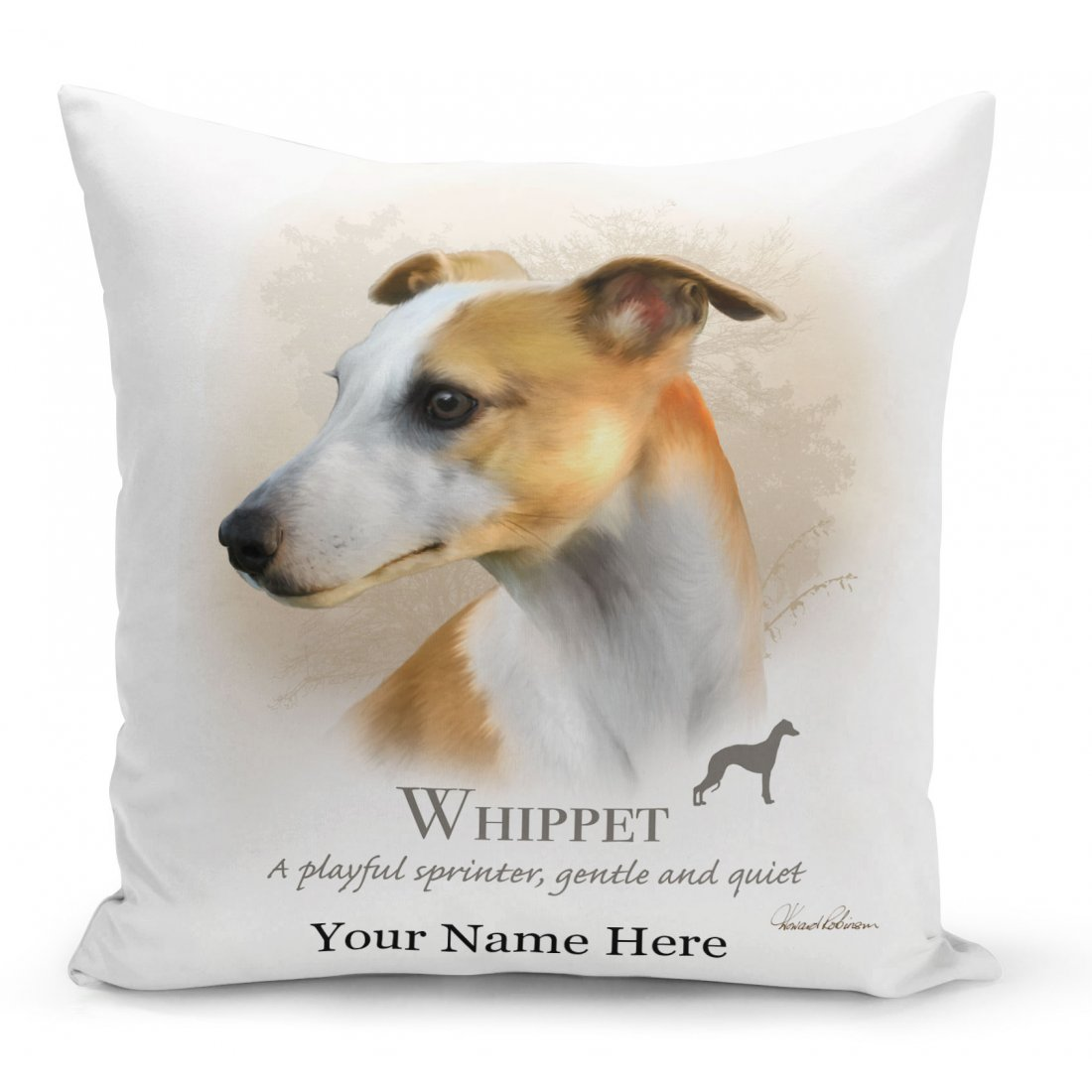 Whippet Dog Cushion