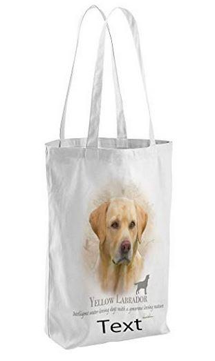 Yellow Labrador Dog Tote Shopping Bag