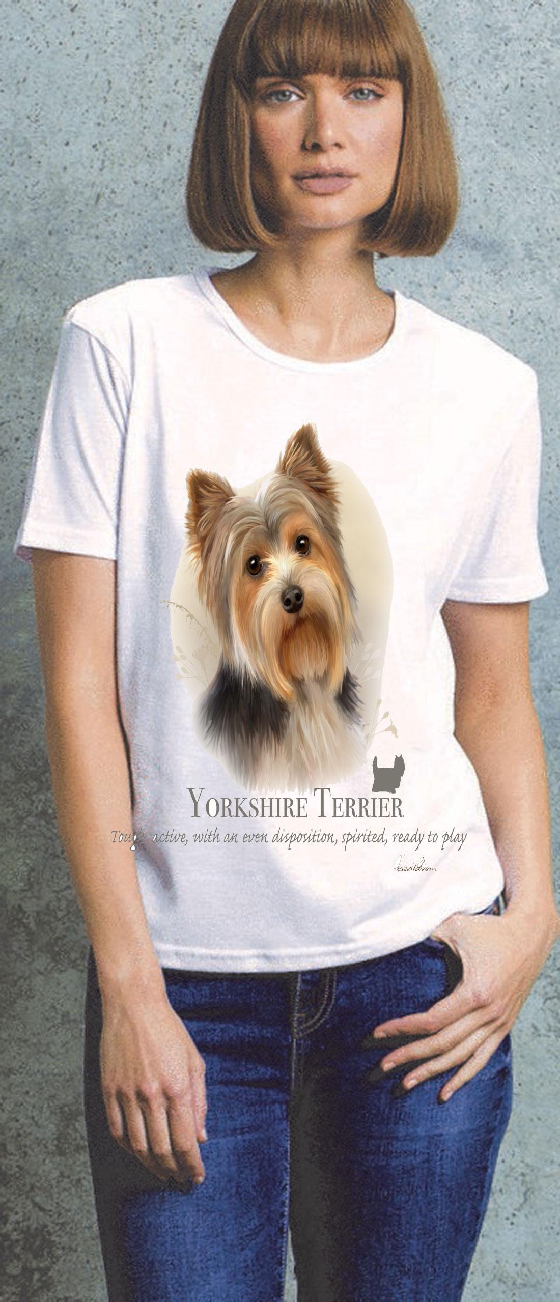 Yorkshire Terrier Ladies T Shirt