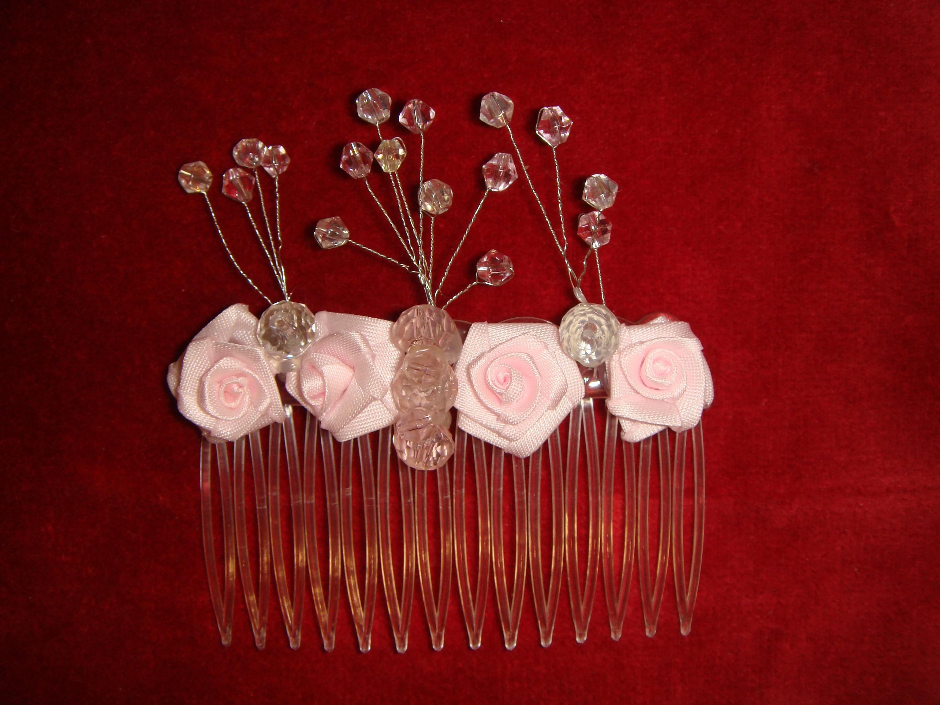 Handmade Bespoke Design Floral Hair Slides