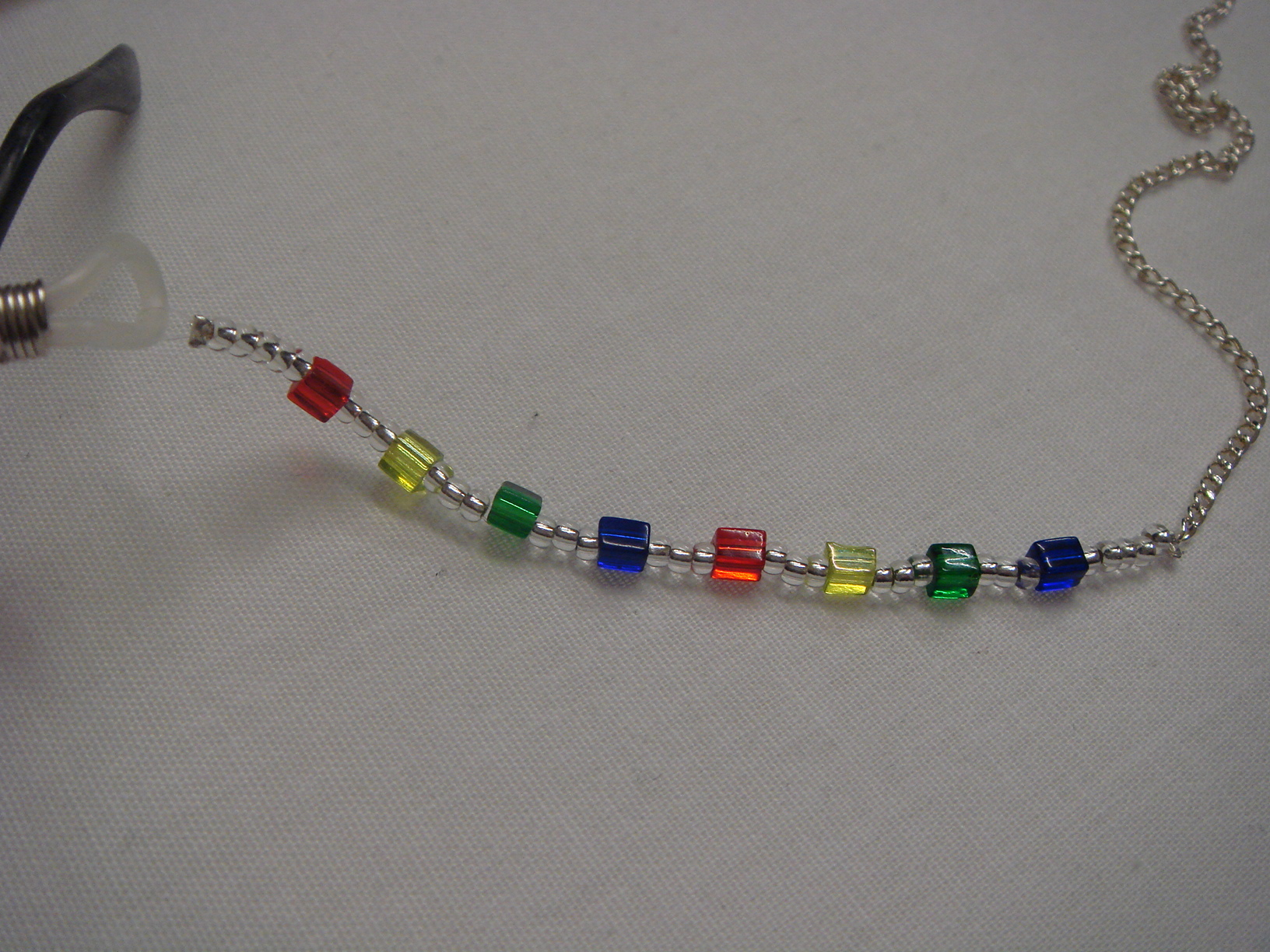 Handmade Rainbow Crystal Bead Glasses Chain