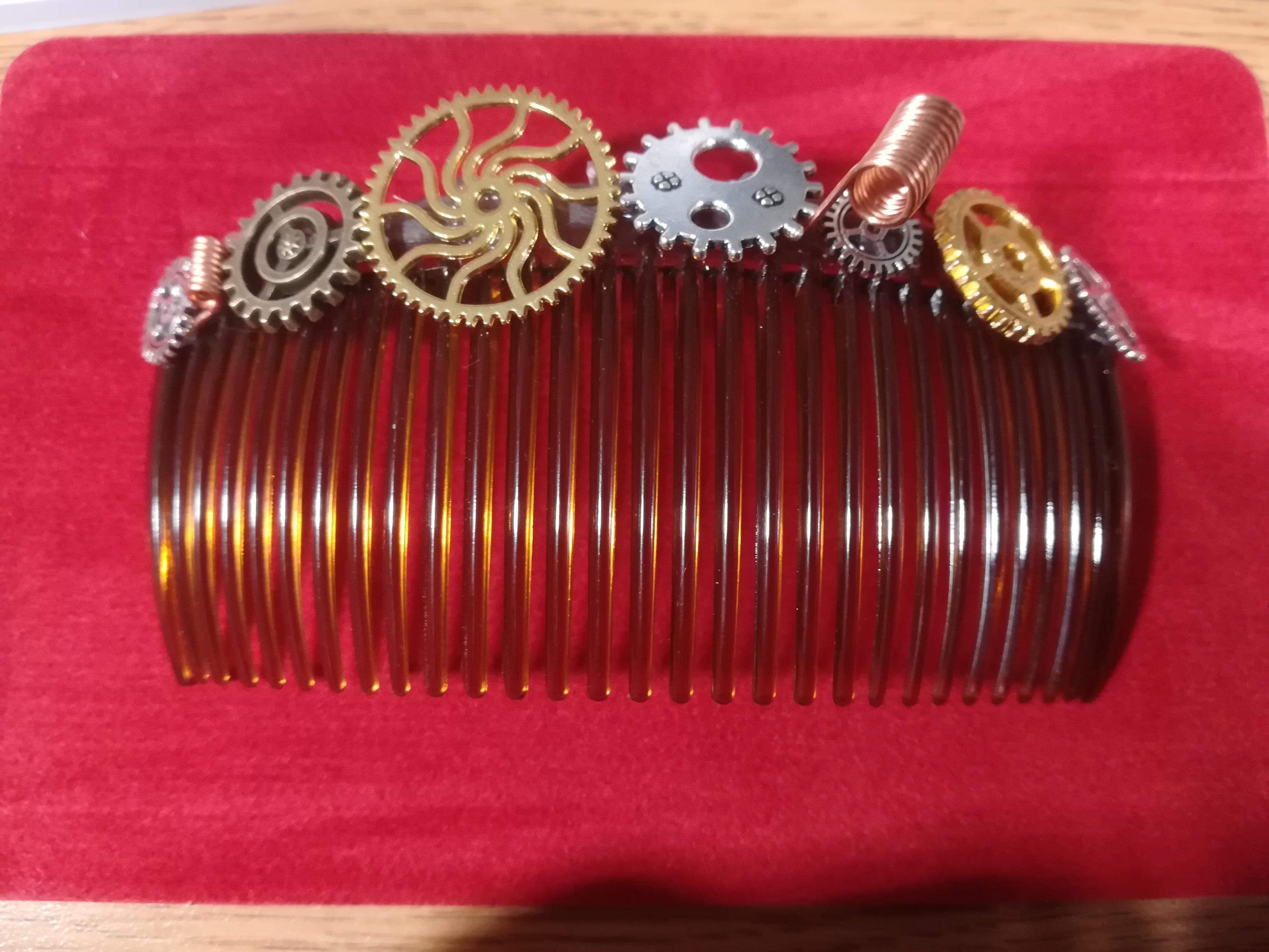 Handmade Steampunk Hair Comb